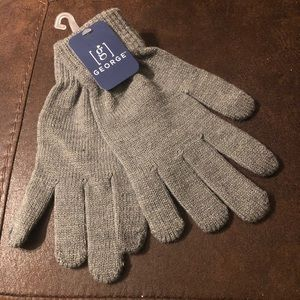 George(Charcoal Grey Heather)One Size Knit Gloves